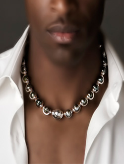 Heiva black tahitian pearl necklace unisex collection men wearing black tahitian pearl necklace aloadofball Image collections